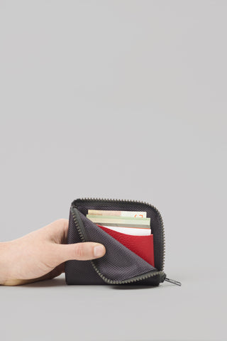 Square Zip Wallet | Charcoal