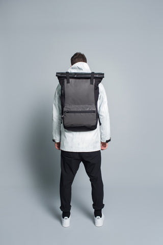 Rolltop Backpack // Black