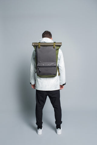 Rolltop Backpack // Olive