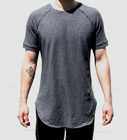 Nightfall T-Shirt | Heather Speckled Black