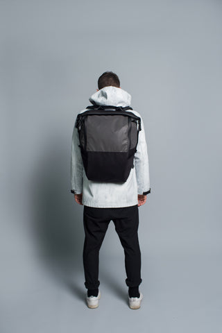 Zip Top Backpack // Black