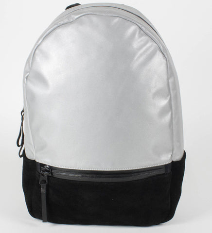 After Hours Backpack | Silver | Suede