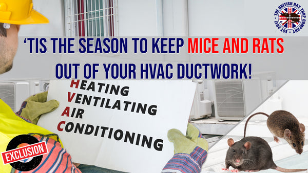 'Tis the Season to Keep Mice and Rats Out of Your HVAC Ductwork!