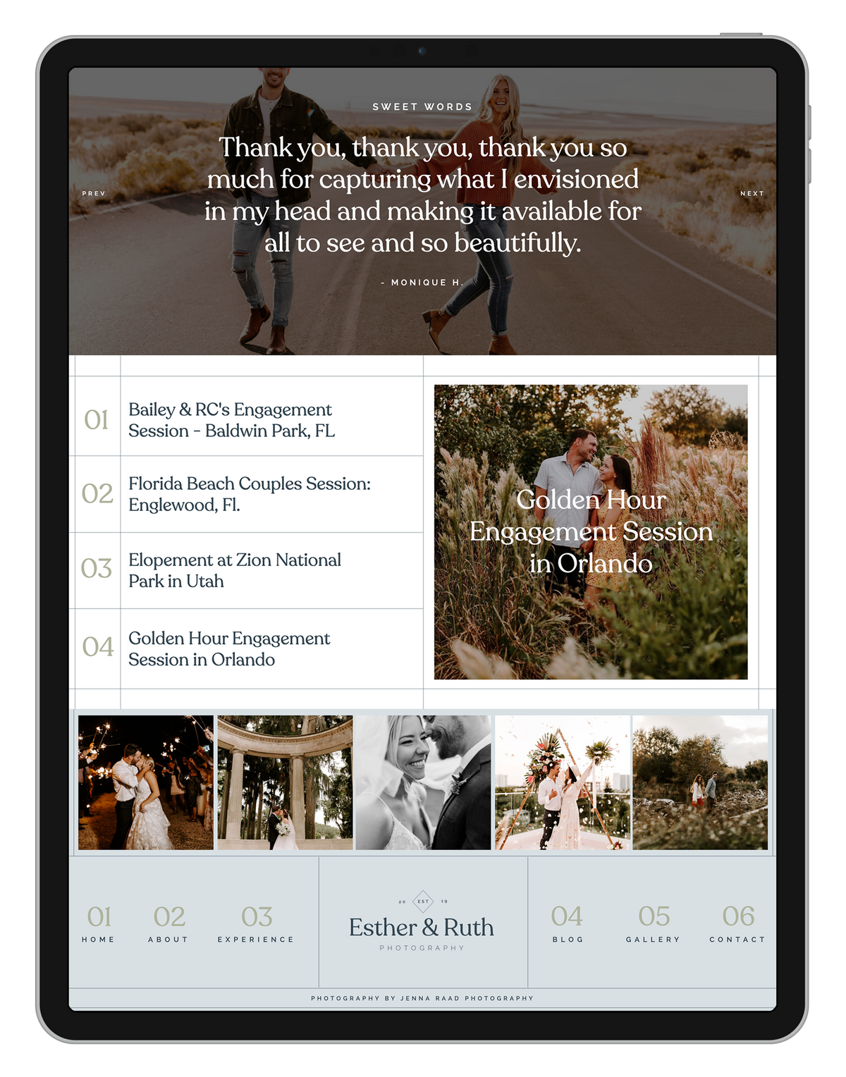 Customizable Showit Website Template for Photographers Emotive Moody