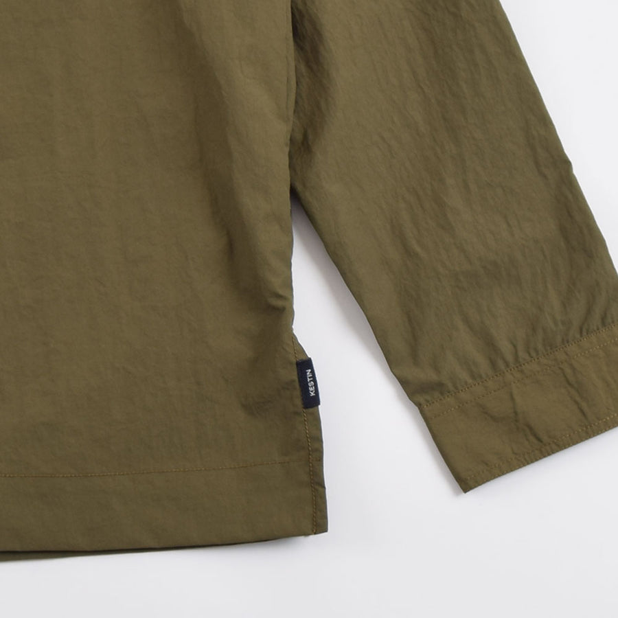 Kestin Olive Granton Water Repellent Italian Cotton/Nylon Shirt