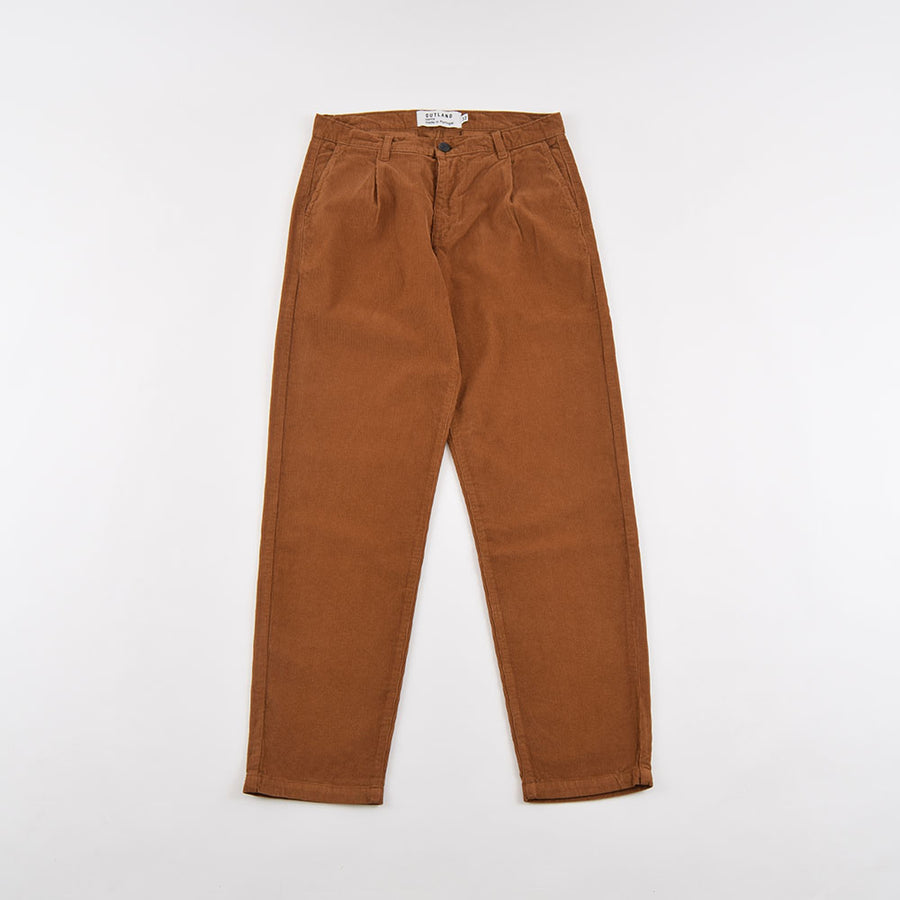 Outland Chestnut Corduroy Pleats Pants