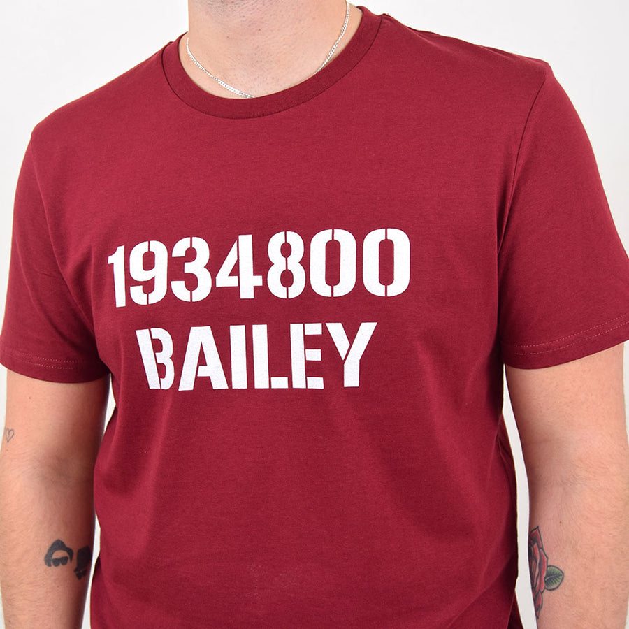 Rivet Burgundy Private Bailey Tee