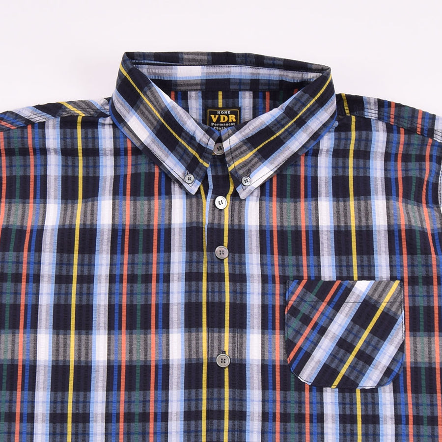 VDR Black Check Seersucker BD Shirt