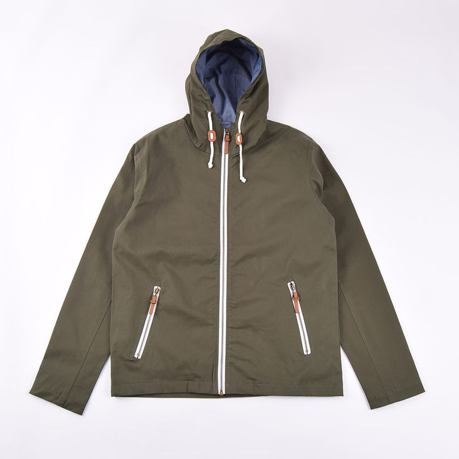Real Hoxton Green Hooded Jacket