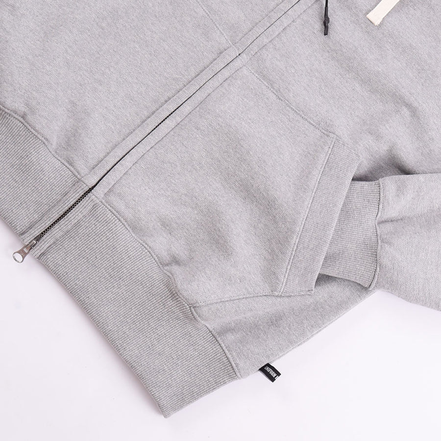Uniform Bridge Grey Heavyweight Zip Up Hoodie