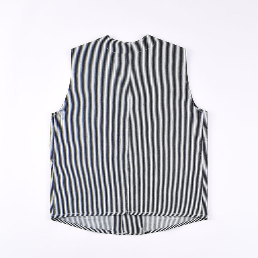 Real Hoxton Japanese Stripe Utility Vest