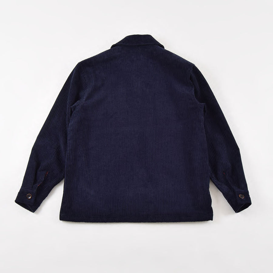 VDR Navy 4 Pocket Corduroy Toggle Coat