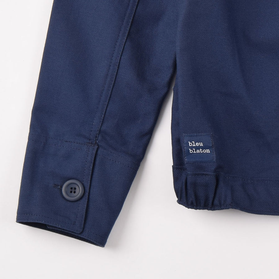 Bleu Blaton Navy Zip Jacket