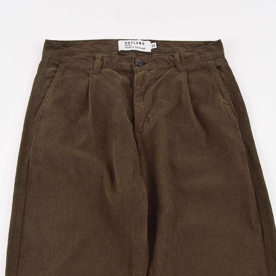 Outland Khaki Corduroy Pleats Pants