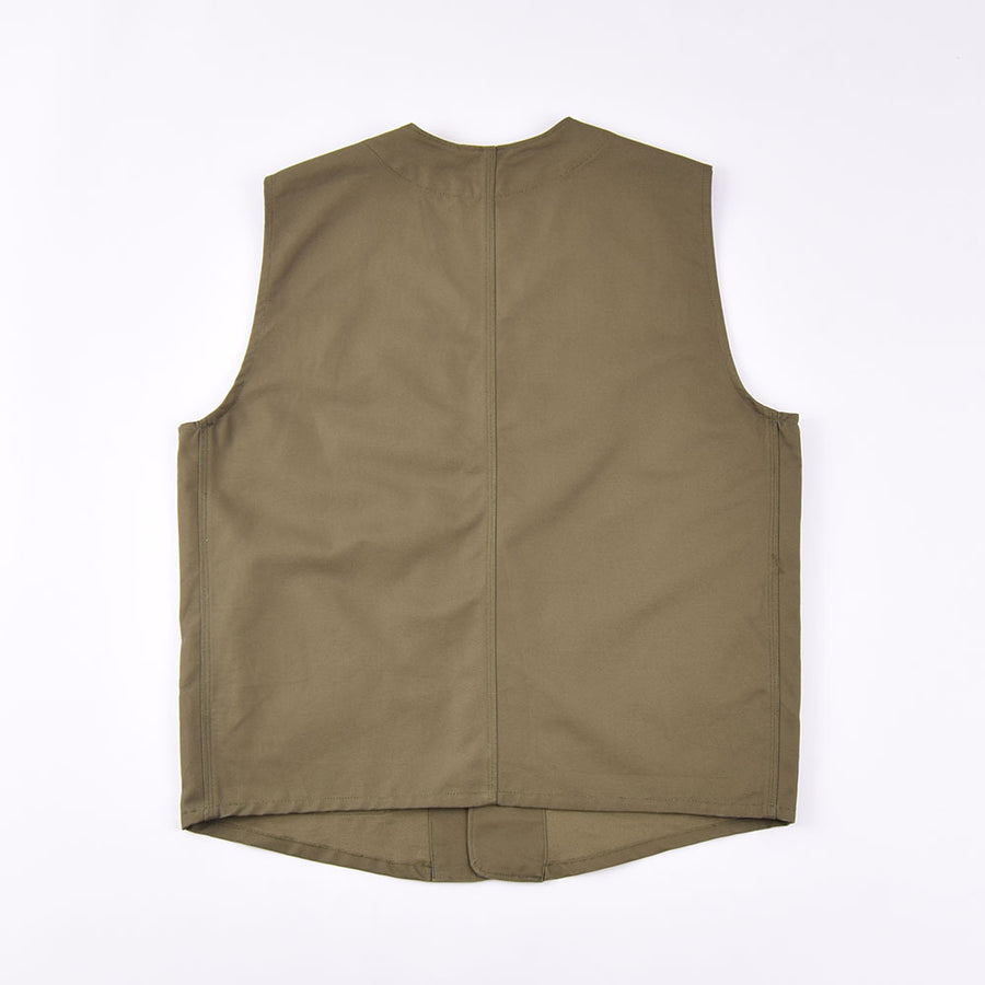 Real Hoxton Olive Utility Vest
