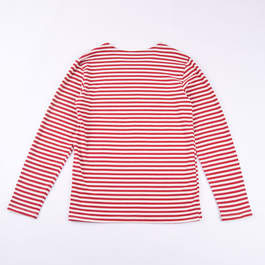 La Francaise Red & White Long Sleeve Breton