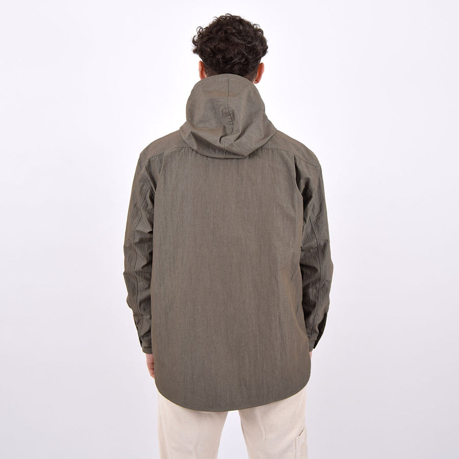 Uniform Bridge Khaki Green Hooded Pocket Shirt