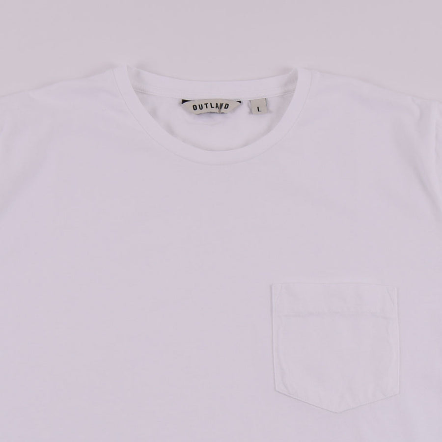 Outland Pure White Welcome Pocket Tee