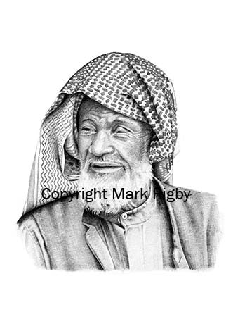 Pencil Drawing 'Carpet Seller Portrait'