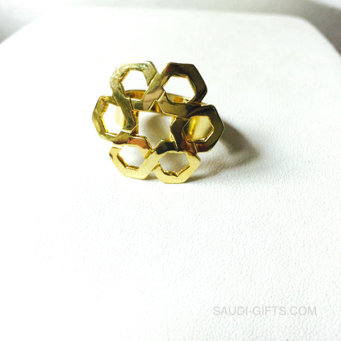 Ring with Six Fold Star