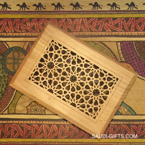 Wooden Box with Islamic Geometric Design