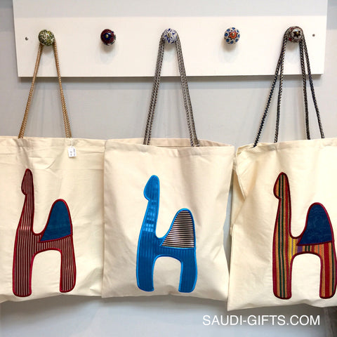 Patchwork Camel Tote Bags