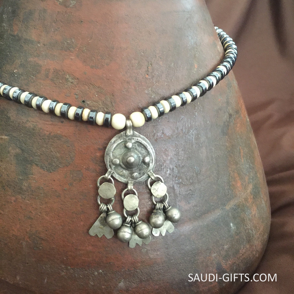 Necklace with old Bedouin with Hematite