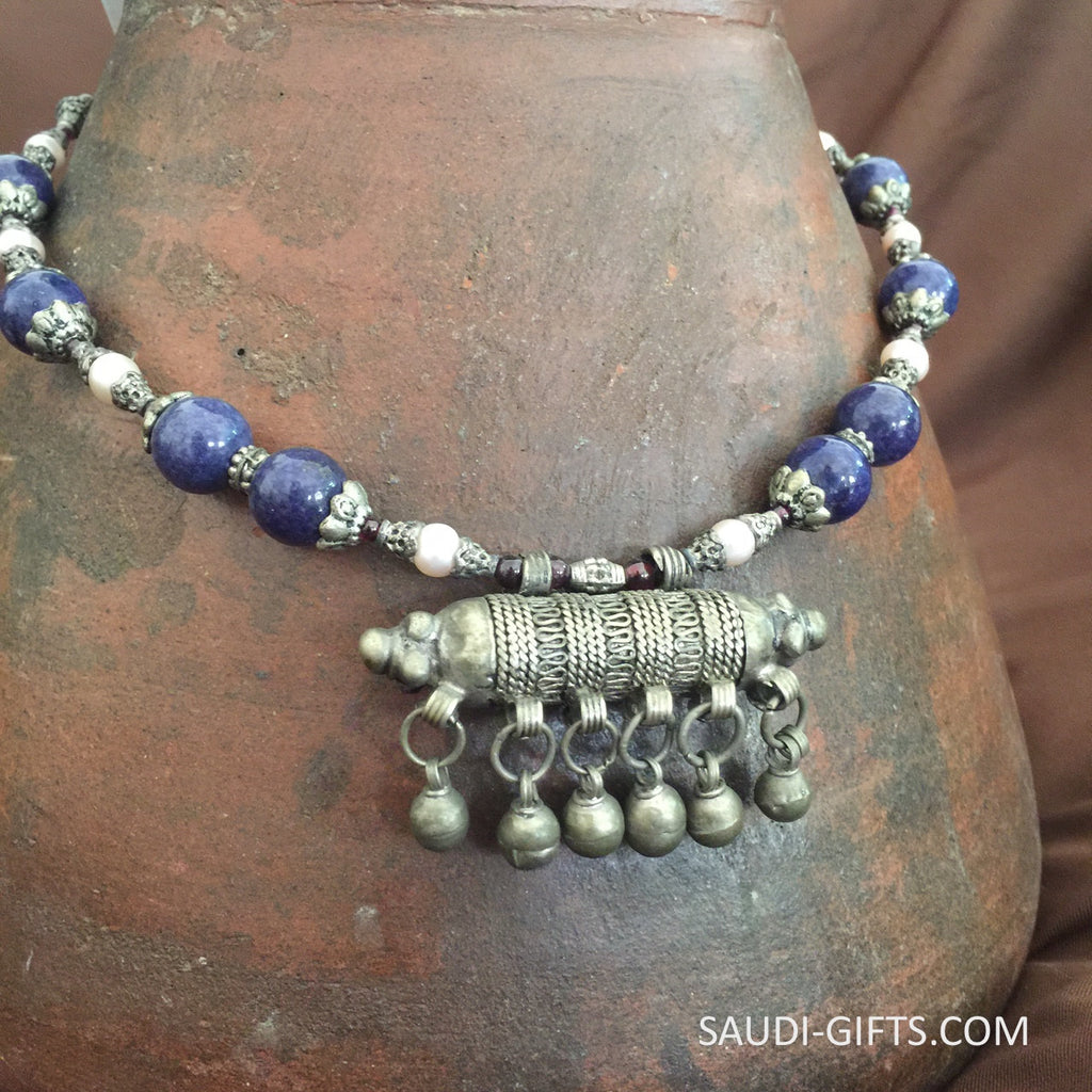 Genuine Antique Bedouin necklace with Lapis