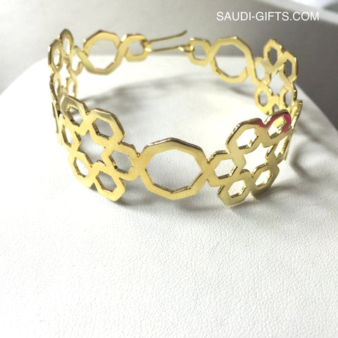 Cuff Bracelet with Six Fold Star