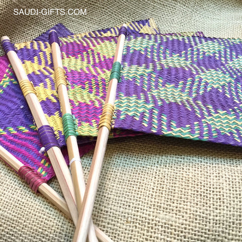 Saudi Palm Leaf Fans (multicoloured)