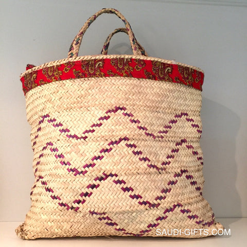Saudi Palm Leaf Basket Basket (multicoloured)
