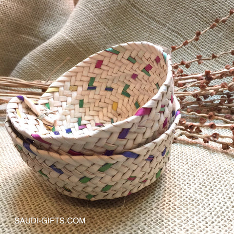 Saudi Palm Leaf Basket Mini (multicoloured)