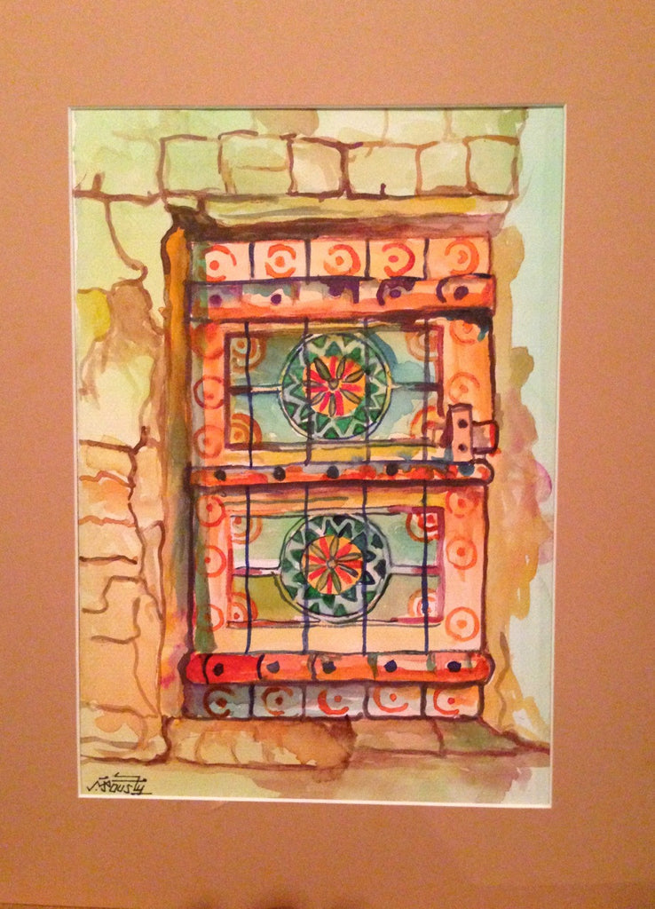 Traditional Saudi door II - watercolour