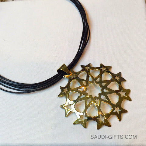 Necklace with Ten Fold Star Outline