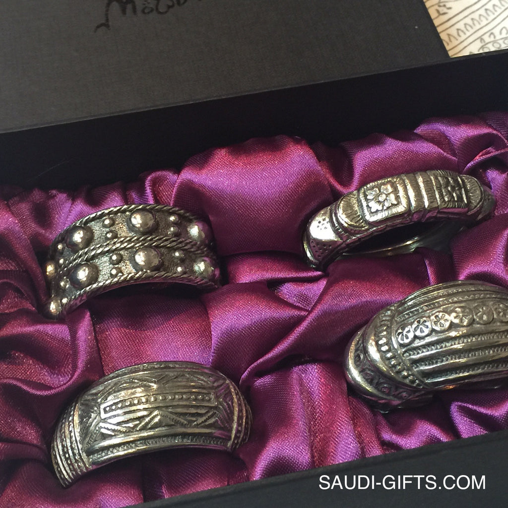 Set of Napkin Rings inspired by Bedouin jewellery