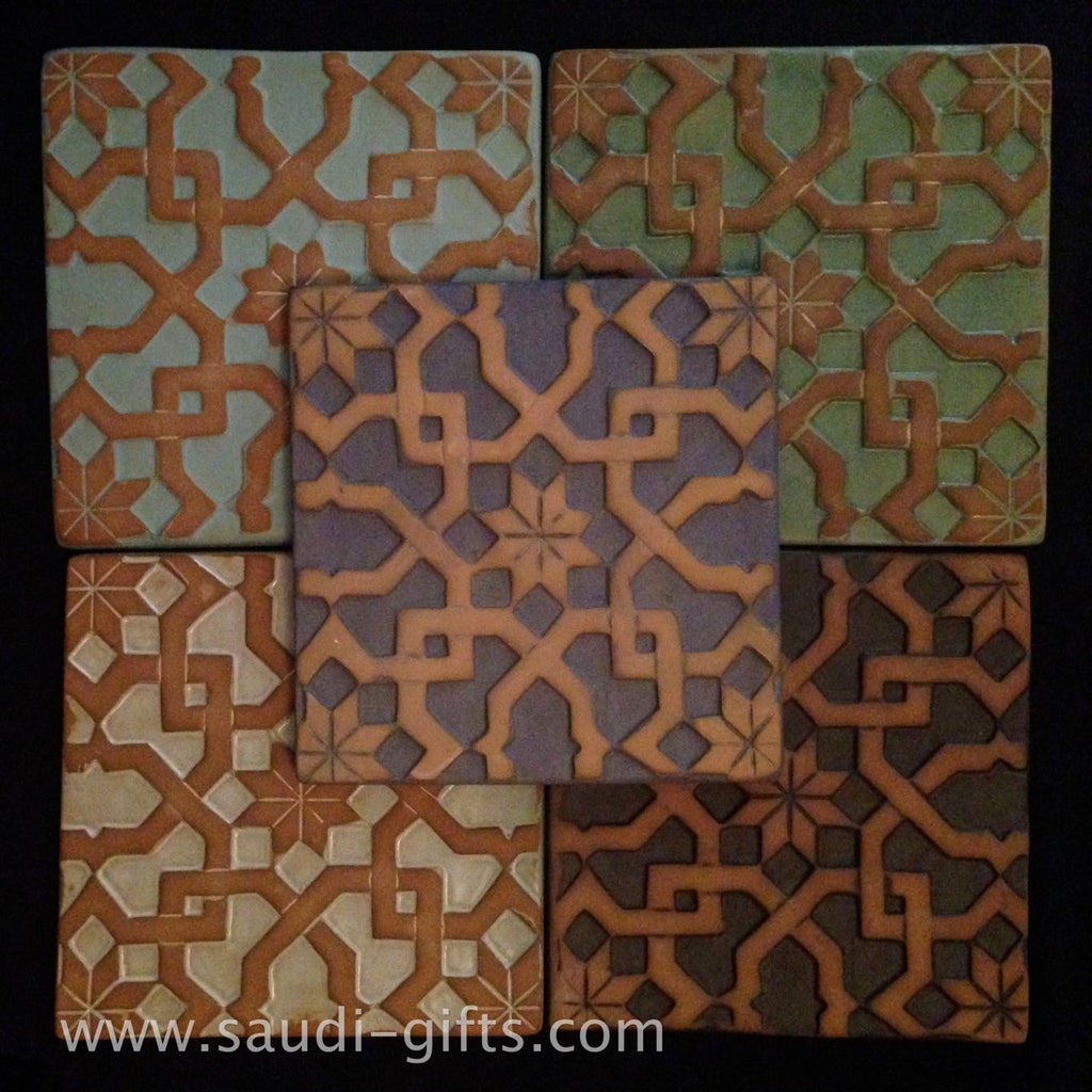 Hot Plate / Tile with Islamic Geometric Patterns