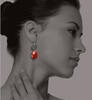 Hope Earrings with Carnelian and Rumi Poetry
