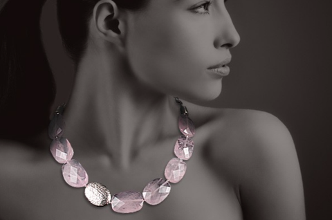 Hope Tasbeh Necklace with Rose Quartz & Hafez Poetry