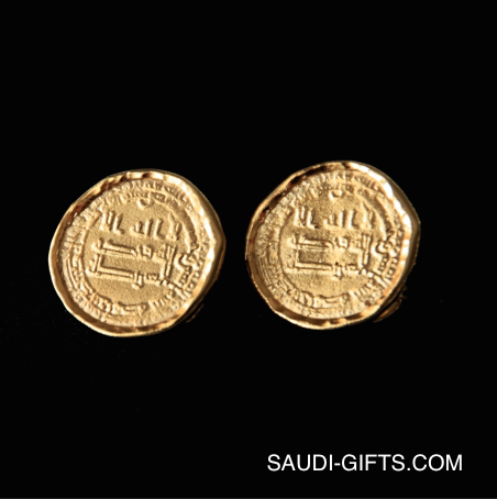 Abbasid Gold Coin Cufflinks