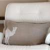 Linen Cushion Cover with Camel