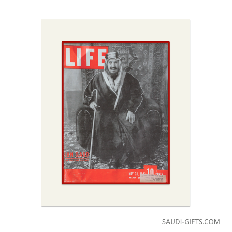 "Historical Reproduction ""King Abdulaziz, Life Magazine"""