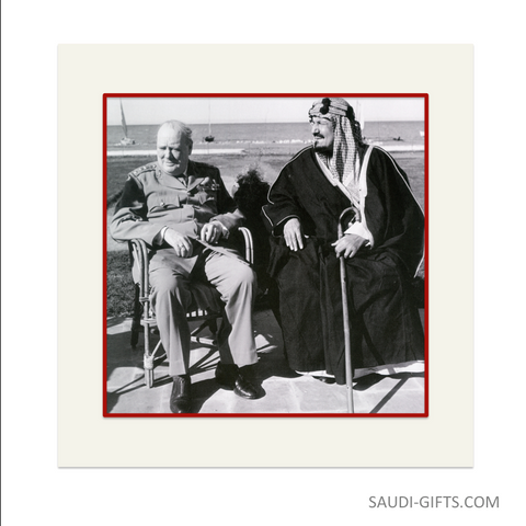 "Historical Reproduction ""King Abdulaziz with Prime Minister Churchill"""