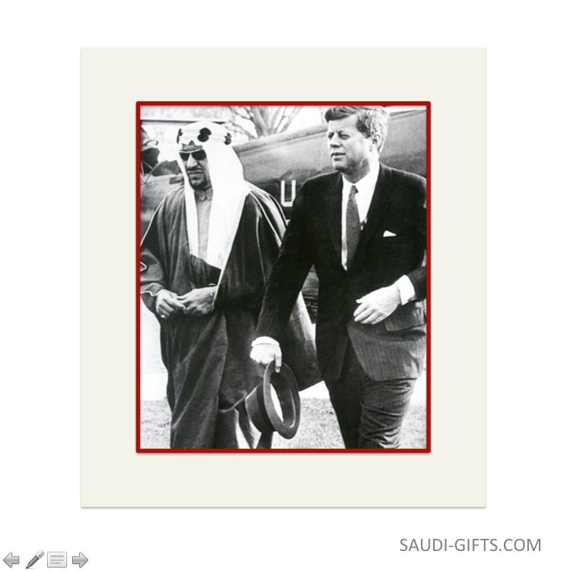 "Historical Reproduction ""King Saud with President John F. Kennedy"""