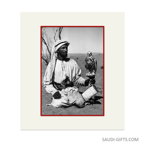 "Historical Reproduction ""Falconer with Peregrine"""