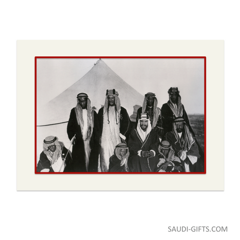 "Historical Reproduction ""King Abdulaziz with Brothers"""