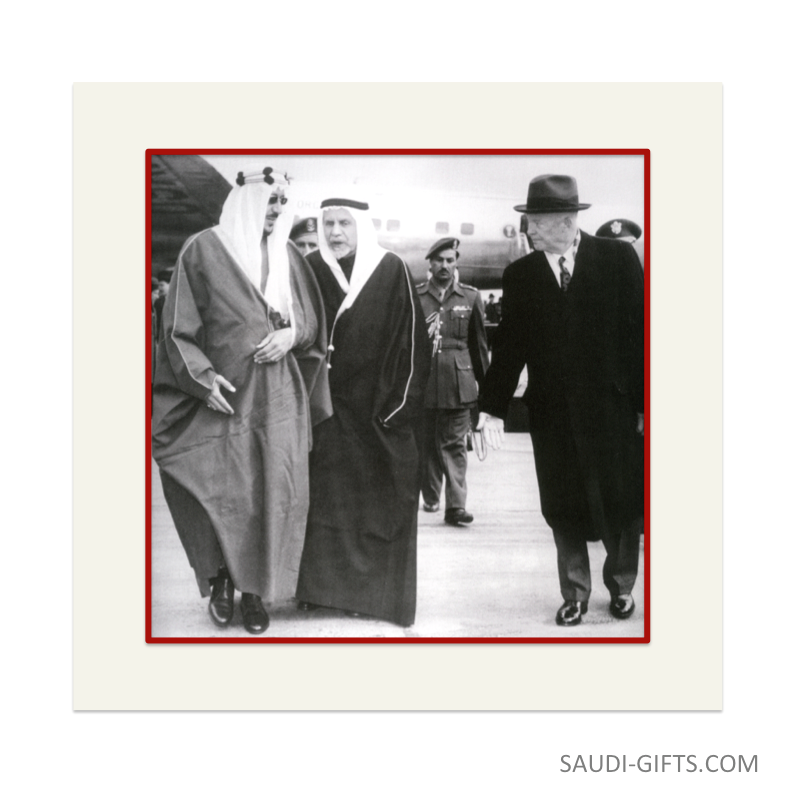 "Historical Reproduction ""King Saud with President Eisenhower"""