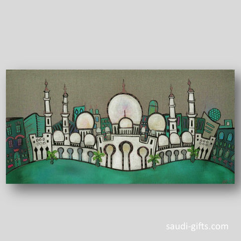 """The Grand Mosque"" Limited Edition print - green"