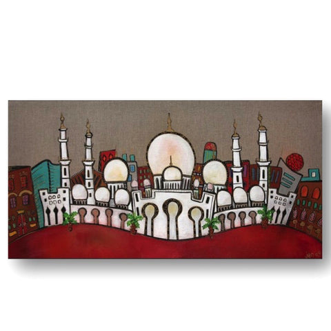 """The Grand Mosque"" Limited Edition print - red"