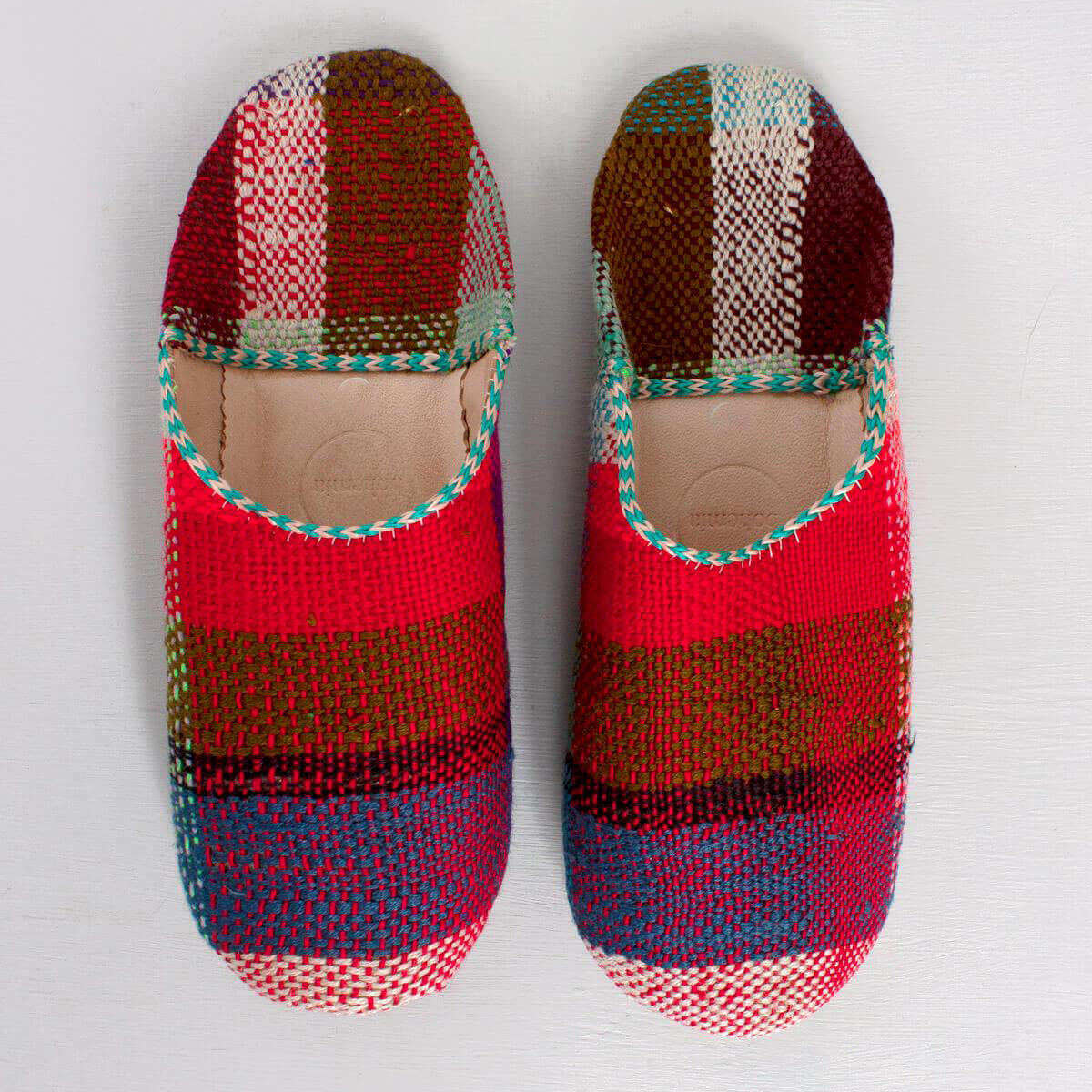 Moroccan Slippers - Plaid