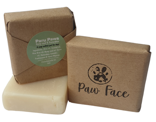 Hemp seed oil and kumarahou soap for dogs